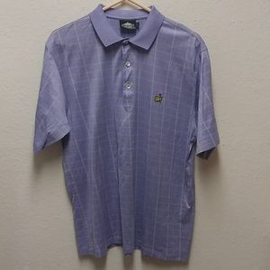 Masters Clubhouse Collection L Purple Polo Shirt